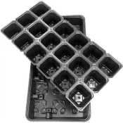 Multi-cell seedling growing trays 18 x 0.125L