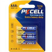 Battery AAA R03P 1.5V by PkCell, Extra Heavy Duty