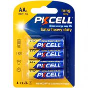 Battery AA R6P 1.5V by PkCell, Extra Heavy Duty