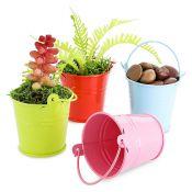 Caspeaux metal  bucket pink 4,3x6x5,5cm
